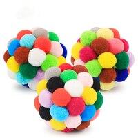 Плюшевый мяч, игрушка для собак, пищащие игрушки, игрушки для больших собак, красочные питомцы, аксессуары для собак, крупных пород, забавные...