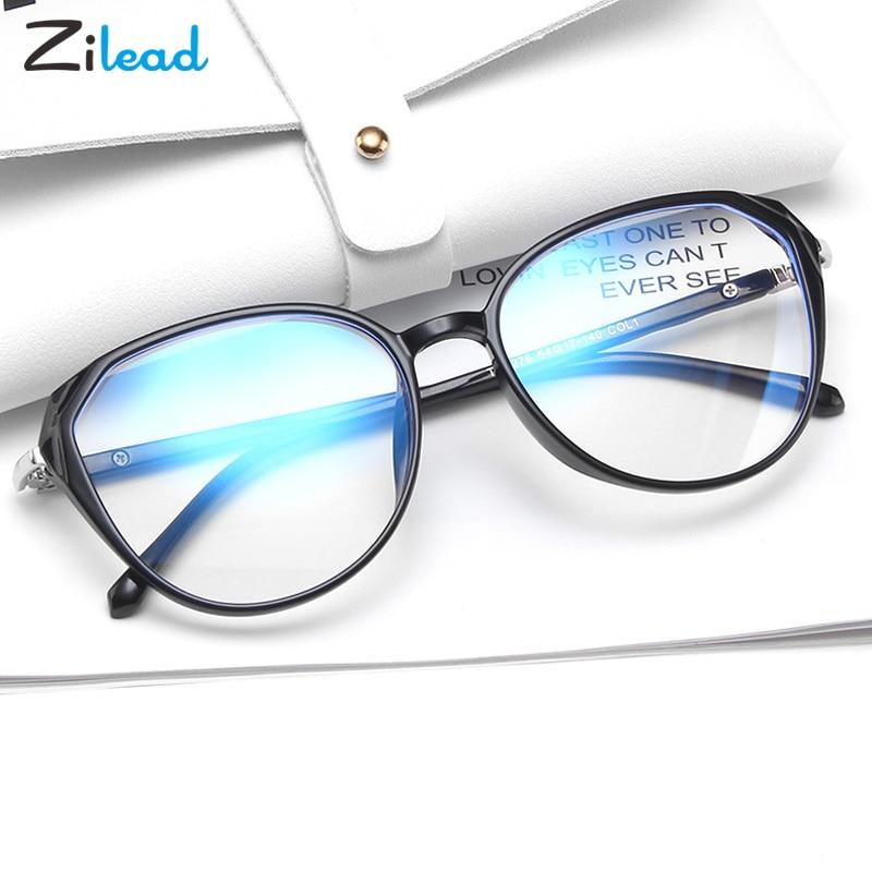 Zilead mode lunettes de lecture Anti Blue-Ray oeil de chat TR90 monture de lunettes gelée couleur légèreté pas facile à déformer confortable