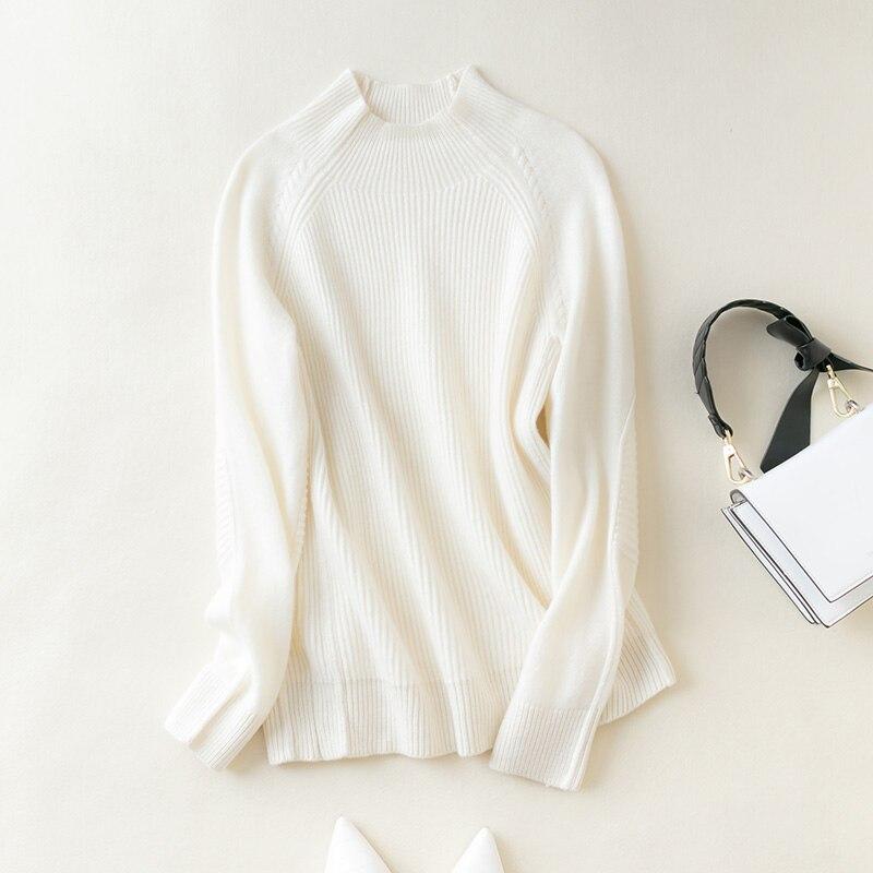 MeetMetro Women Sweater 100% Merino Wool Pullover Women Knitted Sweater Winter Warm Chunky Sweaters Cashmere Sweater Knitwear enlarge