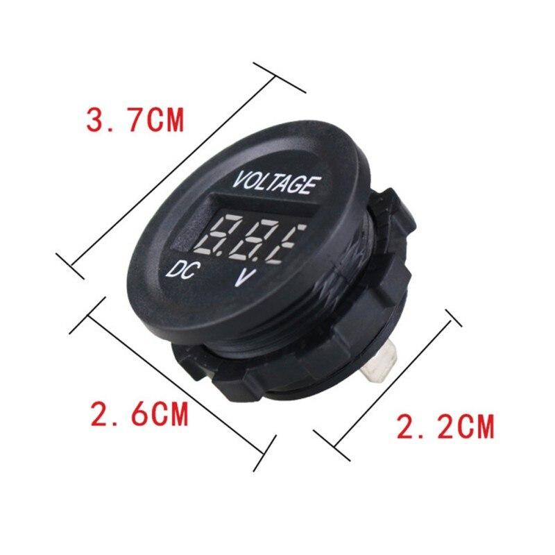 12v-24v Motorcycle Voltmeter With Led Display Voltage Meter Digital Voltmeter For Motorcycle Car Boat Vehicles enlarge