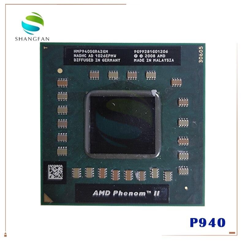 Procesador de cpu portátil AMD P940 HMP940SGR42GM 1,7 GHz 2MB Quad Core Socket S1 (S1g4) PGA638