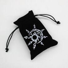Tarot sac de rangement velours carte à jouer cordon paquet jeu de société sac à dés