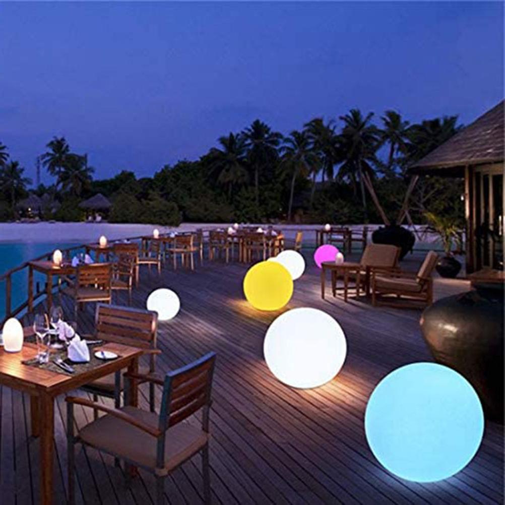 lampada de humor led bola luz inflavel flutuador piscina luz rgbcolor mudando fulgor