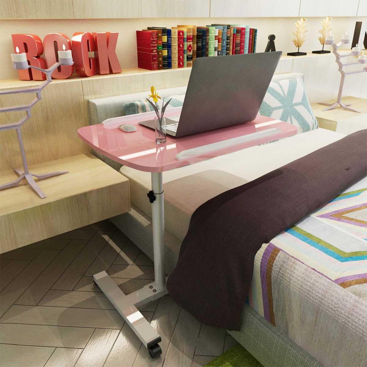 Mesa portátil extraíble, mesa de escritorio, mesa de escritorio, mesa de noche, sofá cama, escritorio portátil ajustable para ordenador de casa, 55x32cm