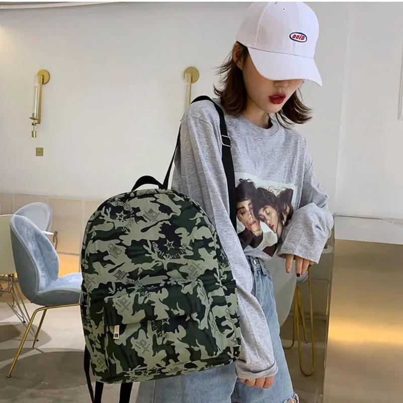 Модный камуфляжный рюкзак, Холщовый женский рюкзак, сумка на плечо, новая школьная сумка для девочек-подростков, школьный женский рюкзак