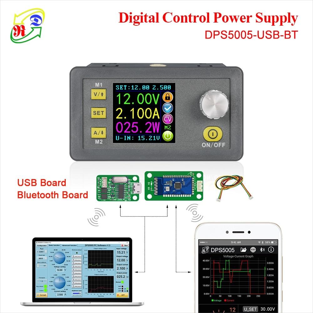 RD DPS5005 comunicación constante CC-CC voltaje de corriente de bajada módulo de fuente de alimentación convertidor de voltaje buck voltímetro 50V 5A