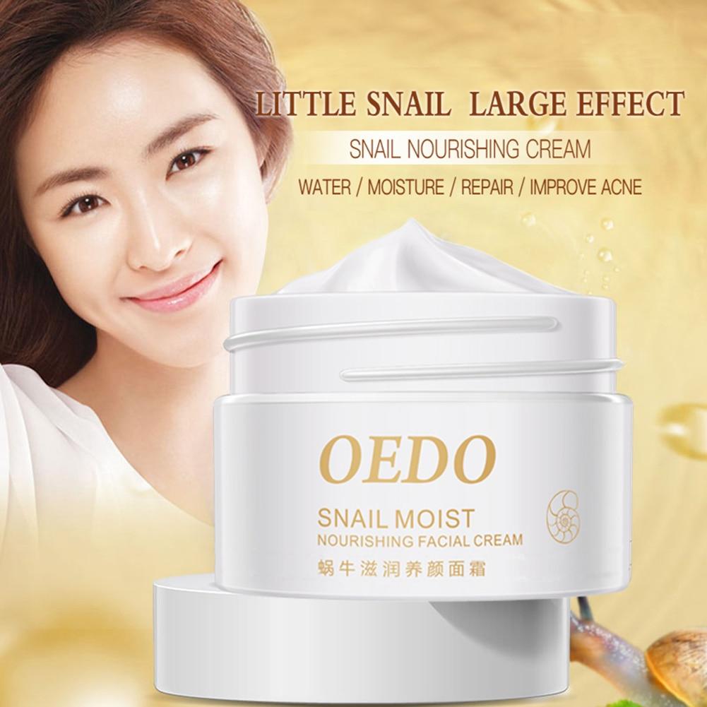 Crema hidratante Facial de Caracol Natural, crema blanqueadora antiarrugas, reafirmante Facial, 40g, TSLM1