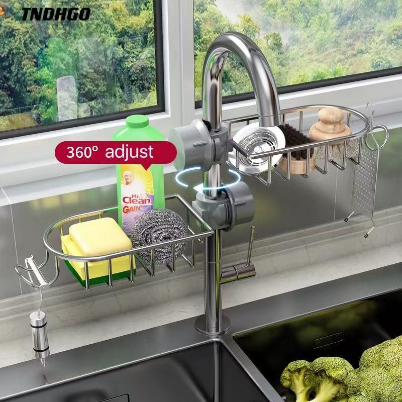 Кухня раковина регулируемая стойка для кранов губка для хранения стойка для кранов дозатор для жидкого мыла Кухня для хранения всякой всяч...