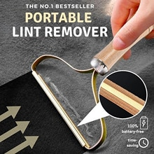 Portable Lint Remover Clothes Fuzz Shaver Reusable Double Sided for Removing Lint Pet Hair Dust in C
