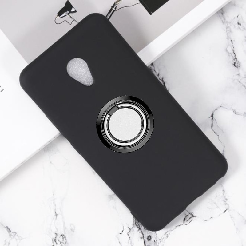 for Meizu M5 Back Ring Holder Bracket Phone Case Cover Phone TPU Soft Silicone Cases for Meizu m5, M