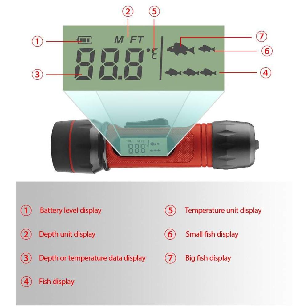 Digital Handle Fish Finder Portable Waterproof Sonar Echo Sounder 100M Depth For Winter Ice Fishing Outdoor Accessories enlarge