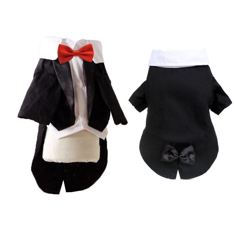 Vestido de boda de mascota pequeño perro Chihuahua traje negro de fiesta de mascotas ropa masculina perro ropa niño traje de perro abrigo para traje chaqueta cachorro