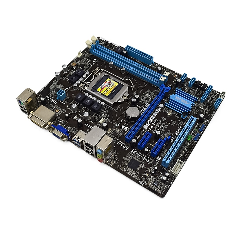 ASUS P8B75-M LX/TW Desktop Intel B75 Motherboard LGA 1155 DDR3 RAM 16GB support Core i7 i5 i3 CPUS SATA2 PCI-E X16 Placa-mãe