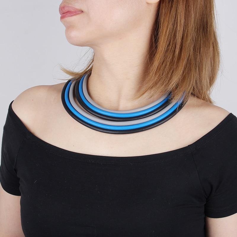 YD & YDBZ разноцветные резиновые колье для женщин этнический многослойный заявление ожерелье ручной работы со шнуровкой низкий толстый каблук...