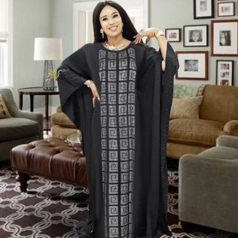 Vestido largo musulmán africano 2020 para mujer, vestido africano de alta calidad, vestido africano a la moda para mujer