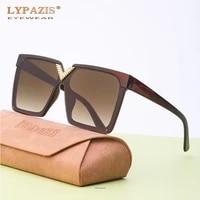 2021 fashion big oversized square sunglasses womens retro vintage trendy luxury brand v design shades ladys black brown glasses