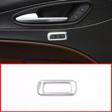 1Pc Matte Silver ABS Chrome Car Seat Memory Button Decorative Frame Trim For Alfa Romeo Stelvio 2017 Car Accessories