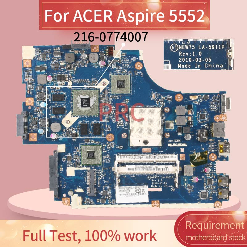 New75 LA-5911P para acer aspire 5552 5552g computador portátil placa-mãe amd 216-0774007 ddr3 mainboard