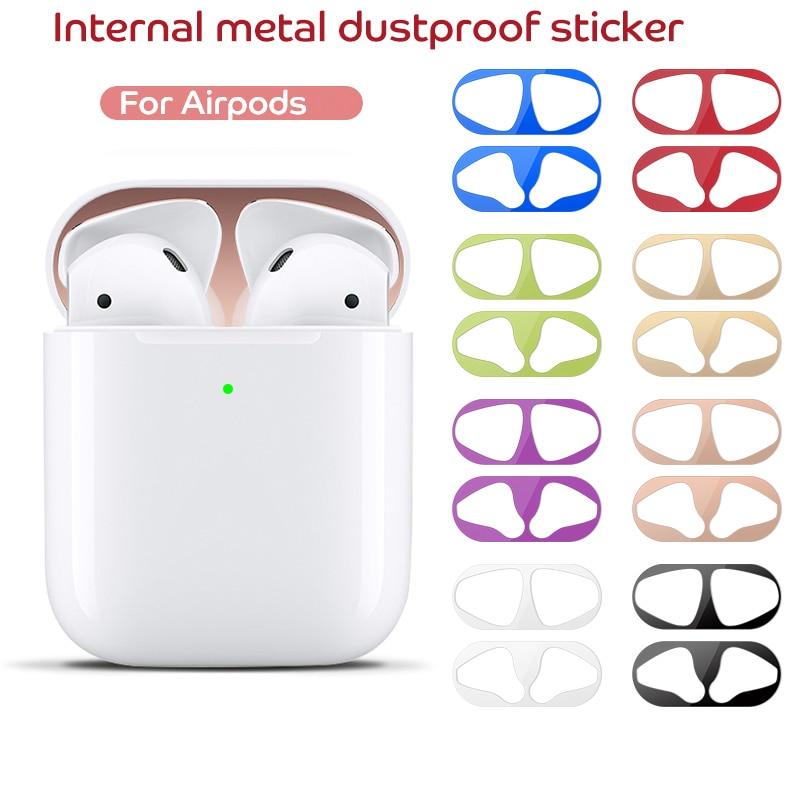 Защитный чехол Пылезащитная наклейка для Apple Airpods 2 1 пленка железная стружка ультра тонкая Кожа Защита от пыли для Airpod 2nd наушники