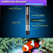 2020 Submersible Water Vitreous Heater Heating Rod for Aquarium Fish Tank Cleaner Simple Practical f