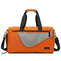 sport fitness bag women patchwork color handbag with shoe organizer bag travel bag for women duffle bag tote gym yoga bag bolso