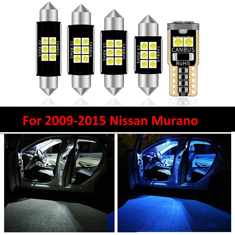 20pcs white premium led interior map dome reading light kit license plate light for volvo xc60 2009 20xx with install tools Three Color 14 PCs LED Light Bulbs Interior Package Kit For Nissan Murano 2009-2015 Car Map Dome Trunk License Plate light Lamp