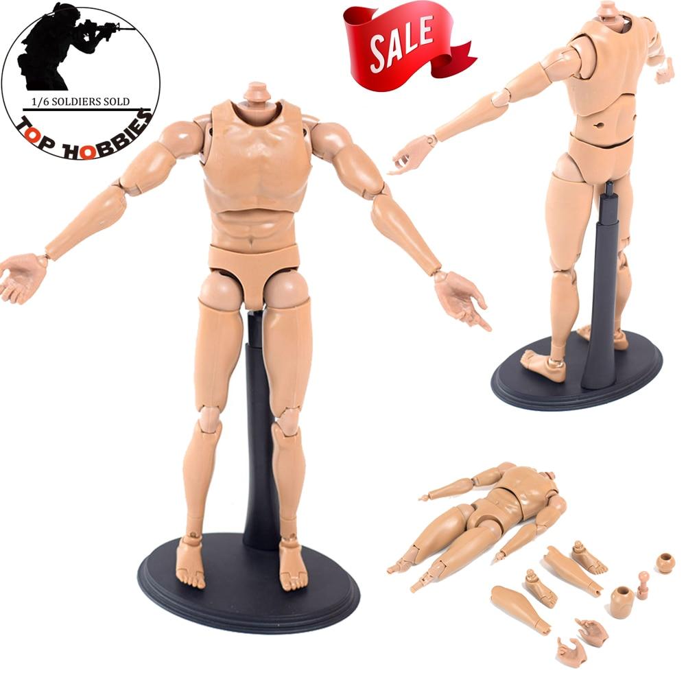 1/6 échelle homme/homme Figure V8 mouvement commun poupée corps nu ajustement 12 pouces Phicen Super-Flexible Action Figure pas de tête 26CM hauteur