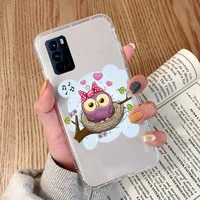 cute cartoon animal owl house phone case transparent for oppo reno 2 5 z pro gtneo realme q2 gt 11 findx 2 pro realmev 3 5 k7x