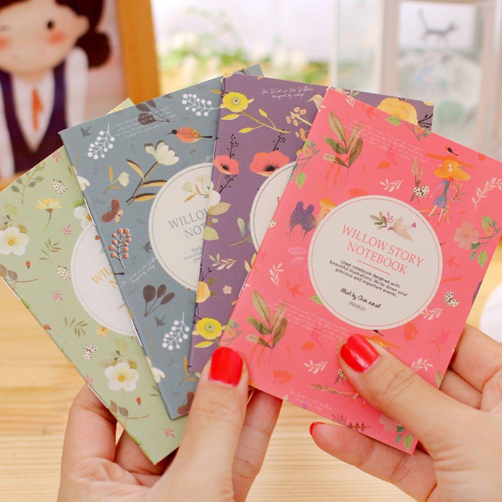 Korean Stationery Mini Notebook Cartoon Small book Cute Gift School Supplies Student Memo Diary Planner 40packs lot cowhide korean retro exercise book student cute soft face copy small book cartoon notebook