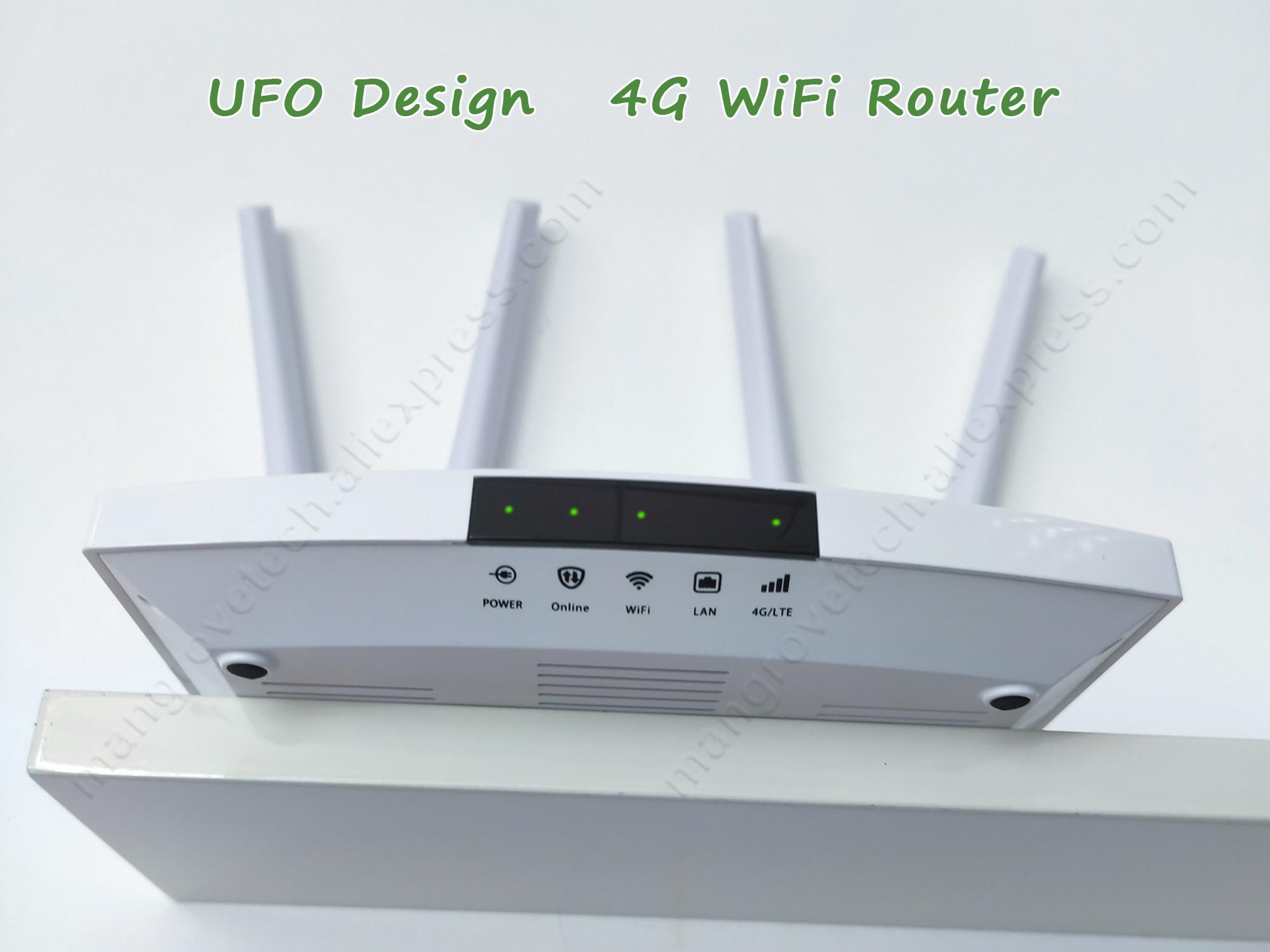 LC112 4G router wifi SIM card Hotspot  4G CPE antenna 32 users RJ45 WAN LAN wireless modem LTE dongle
