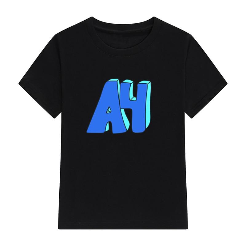Детские футболки А4 пончики детская 100% хлопковая футболка с коротким рукавом Топы модный принт Семейный комплект одежды для мальчиков черные футболки