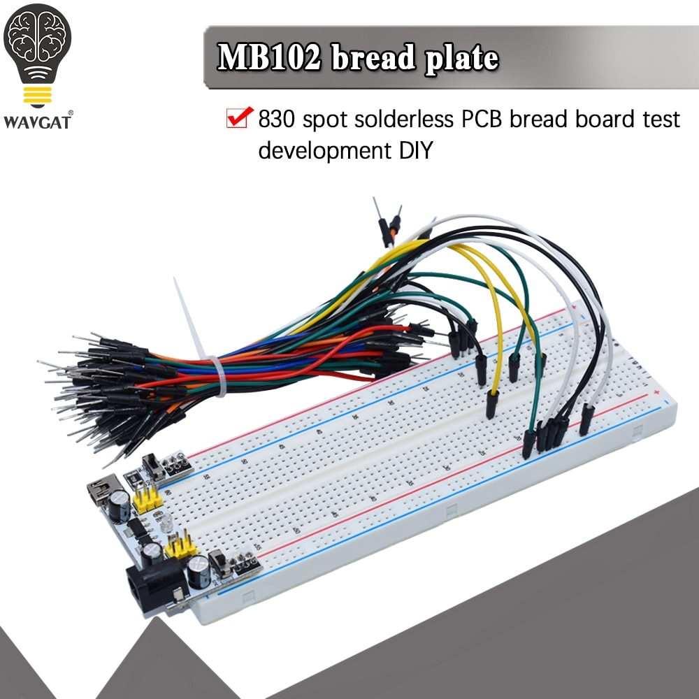 NEW MB-102 MB102 Breadboard 400 830 Point Solderless PCB Bread Board Test Develop DIY for arduino laboratory SYB-830