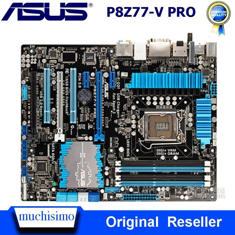 Placa-mãe original asus P8Z77-V pro lga1155 ddr3 32gb usb3.0 para i3 i5 i7 cpu z77 usado desktop P8Z77-V pro mainbaord