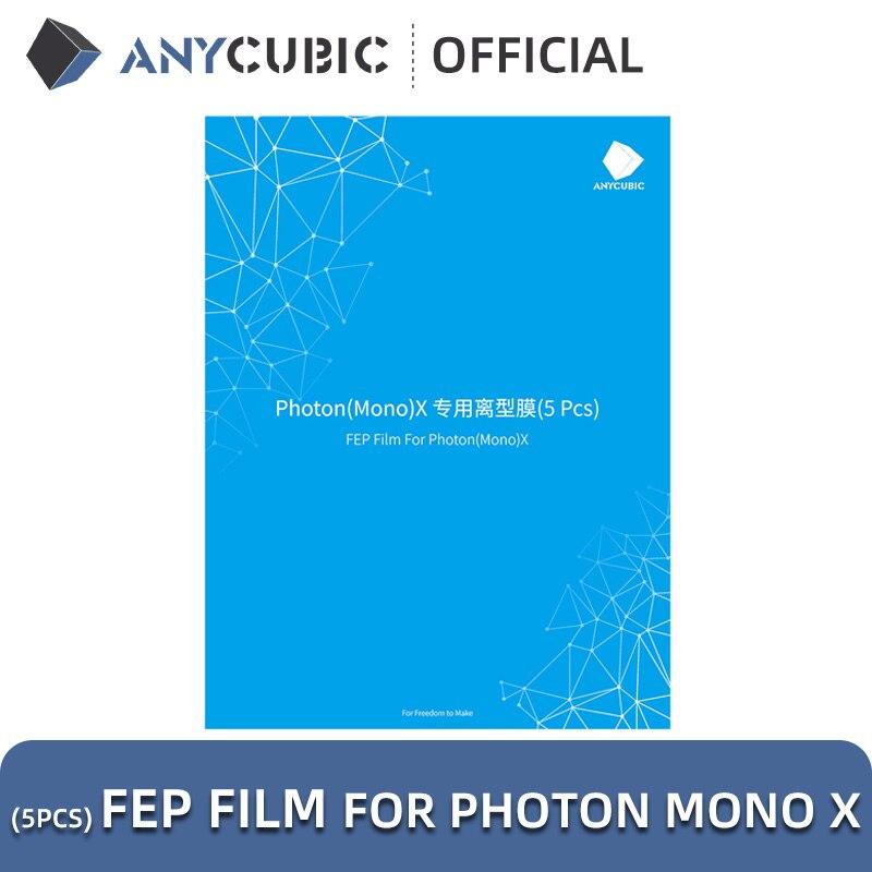 ANYCUBIC 5pcs/Lots FEP Film For Photon Mono X Resin 3D printer 260x175mm SLA/LCD FEP Sheets 0.1-0.15mm FEP Film For 3D Printer