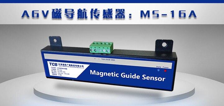 Automatizado de Dupla Magnético da Tira Magnética do Pólo Industrial do Sensor de Guia Magnético de 16 s do Carro Veículo Guiado Finalidade Bits Agv