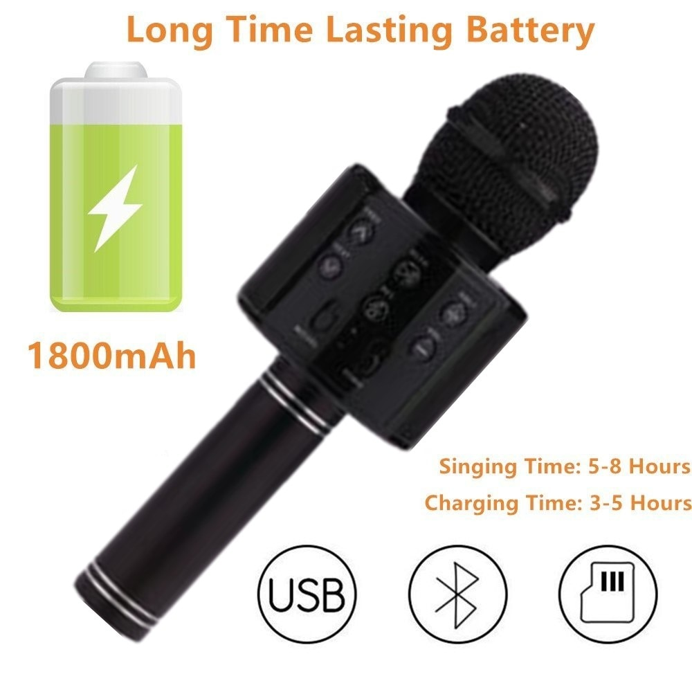 FGHGF mikrofon WS858 Bluetooth Wireless Condenser Magic Karaoke Microphone Mobile Phone Player MIC Speaker Record Music enlarge