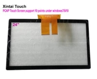new 24 projected capacitive touch screen panel 10 pointsusb controller win 78 10 usb for lcd monitor with fast shipping