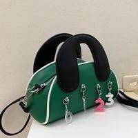 luxury leather casual portable shell bag female bag 2021 summer new fashion lady messenger bag western style simple saddle bag