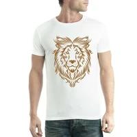 golden lion art tattoo mens t shirt xs 5xl
