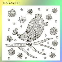 daboxibo birds transparent clear stamps for diy scrapbookingcard makingphoto album silicone decorative crafts 13x13