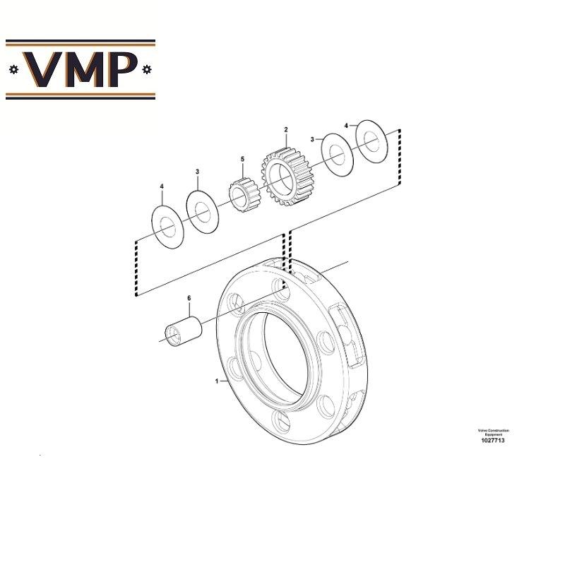17231036 - Thrust Washer Voor A25G, A30C Bm, A30G, A25D, A40E, a30 Knik Dumptrucks-Vmp