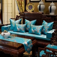 blue gray cushion covers luxury chinese little bird plum blossom embroidery decorative pillow cases sofa bedroom living room car