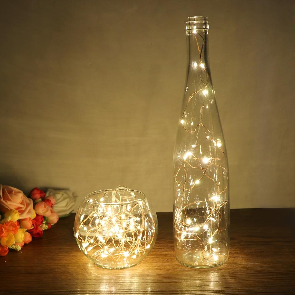 Lámpara de cobre cuerda de vacaciones 1M LED creativo caja de batería de Color de la serie de Lámpara de cobre Mini decorativo pequeño luces flexibles