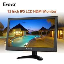 "Eyoyo EM12F 11.6"" PC LCD Monitor Mini TV Computer FHD Display Screen Video Input Security Monitor With Speaker HDMI AV VGA USB"