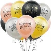 10pcs 12 inch graduation season bachelor hat balloons graduation party performance room background decoration