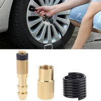car tire inflator adapter blow gun nozzle for standard pump air compressor twist on type with barb connector