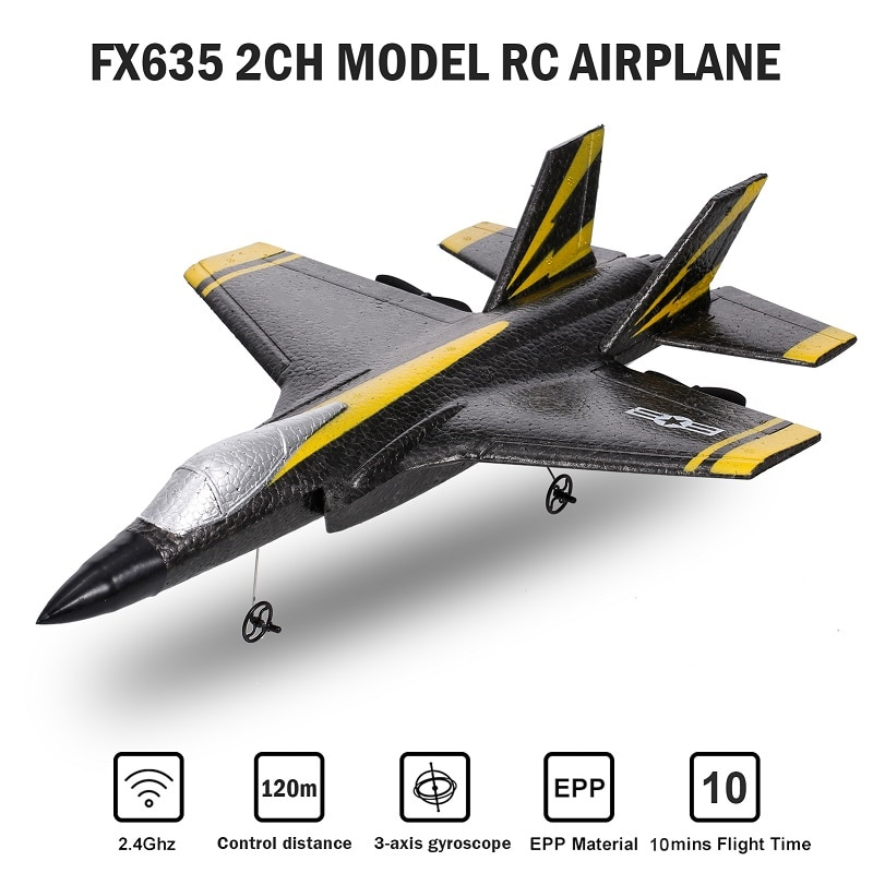 2021 Flybear FX635 248mm Wingspan 2.4G 2CH EPP RC Airplane Warbird RTF Bulit-in 3-Axis Gyro Fixed Wi