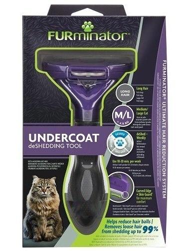Furminator Pelo Largo gato для длинношерстных кошек L
