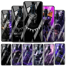 Marvel Black Panther Tempered Glass Cover For OnePlus Z 7 8 9 7T 8T 9R Nord 5G Pro Silicone Phone Ca