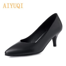 AIYUQI  Sexy Shoes Women Pointed New Luxury Shoes Women Shoes Stiletto Black Professional Pumps With